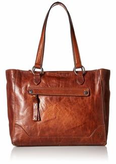 FRYE Melissa Zip Leather Tote cognac