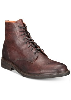Frye Men's Ben Cap-Toe Leather Lace-Up Boots, Created for Macy's Men's Shoes