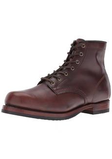FRYE Men's John Addison Lace Up Combat Boot 87083-Dark Brown  D US