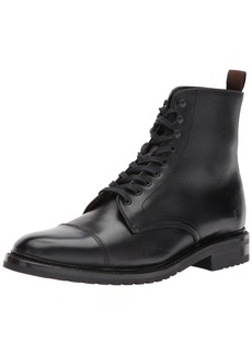 FRYE Men's Officer Lace Up Combat Boot   D US