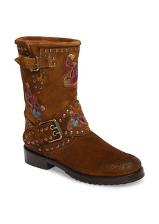 Frye Nat Embroidered Engineer Boot (Women)
