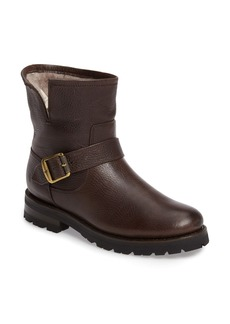 Frye Natalie Genuine Shearling Water Resistant Engineer Boot (Women)