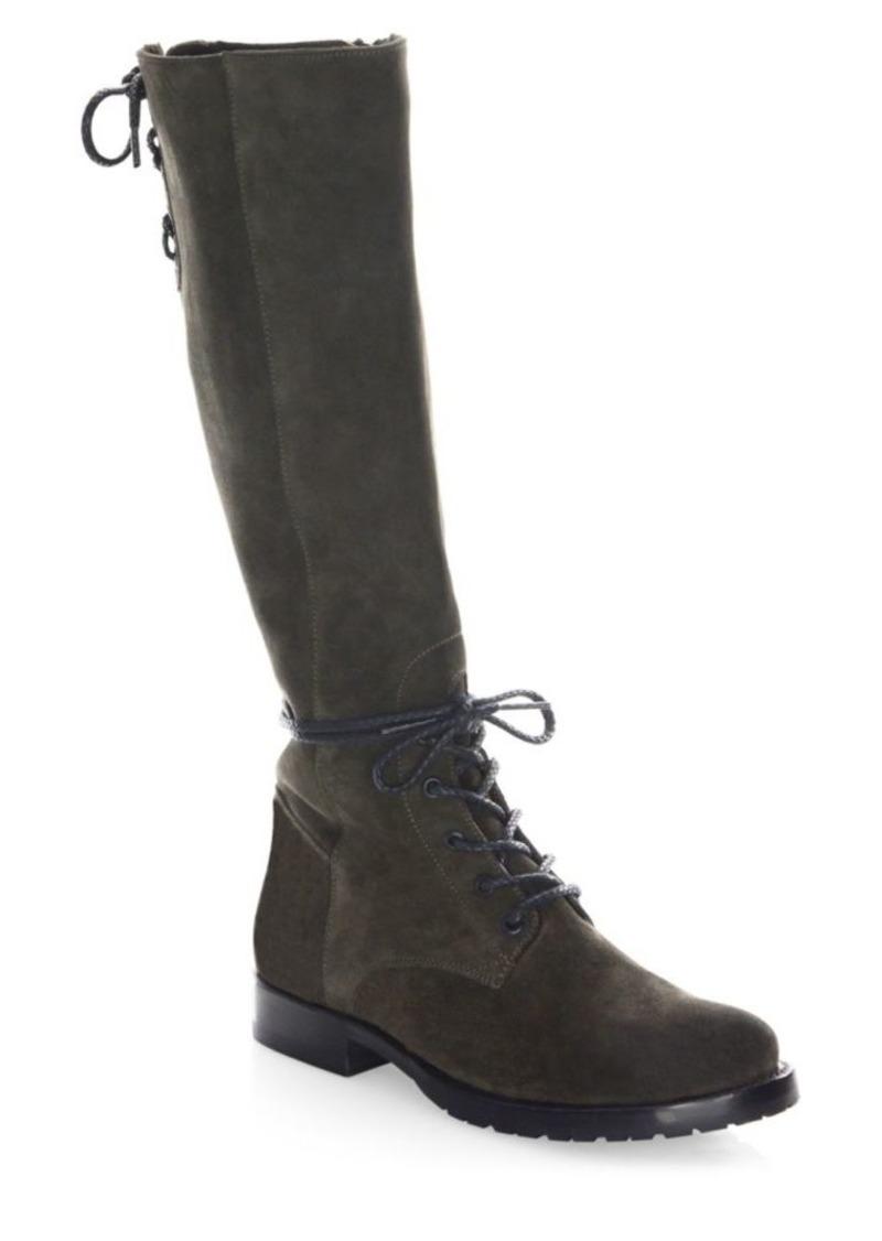 Frye Natalie Knee-High Suede Combat Boots bbg1i71C