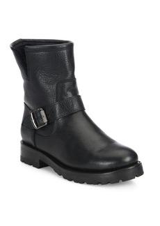 Frye Natalie Shearling & Leather Buckle Booties