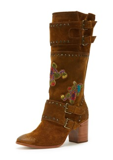 Frye Nomi Flower Engineer Calf-High Boot