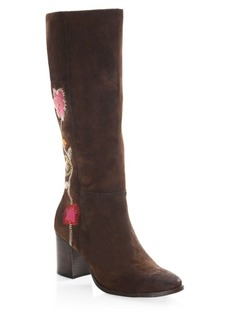 Frye Nova Embroidered Mid-Calf Boots