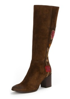 Frye Nova Flower Tall Suede Boot