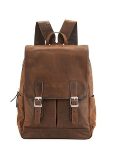 Frye Oliver Distressed Leather Buckle Backpack