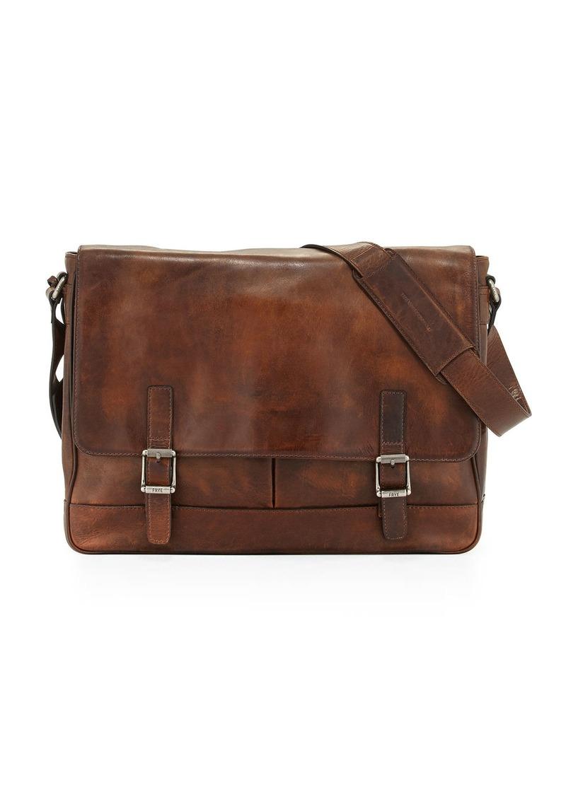 cfb619650 Frye Oliver Men's Leather Messenger Bag Dark Brown   Bags