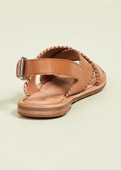 Frye Robin Feather Crisscross Sandals