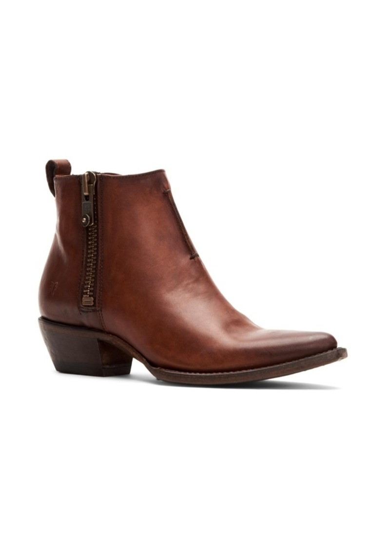 Frye Sacha Side Zip Moto Leather Booties Women's Shoes