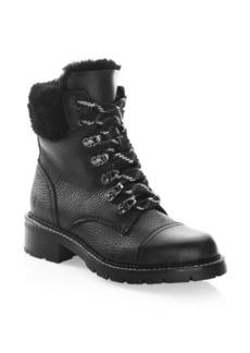 Frye Samantha Shearling & Leather Hiker Boots