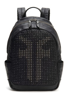 Frye Small Scout Studded Canvas & Leather Backpack