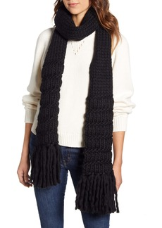 Frye Textured Stripe Wool Muffler