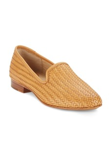 Frye Tracy Woven Leather Smoking Slippers