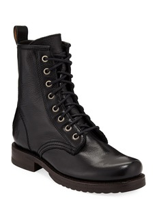 Frye Veronica Leather Combat Booties