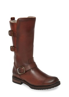 Frye Veronica Weatherproof Genuine Shearling Boot (Women) (Wide Calf)