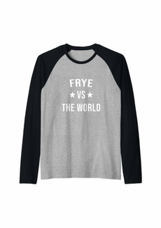 FRYE Vs The World Family Reunion Last Name Team Custom Raglan Baseball Tee