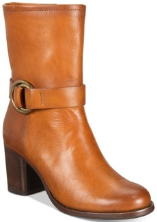 Frye Women's Addie Harness Mid-Shaft Boots Women's Shoes