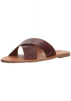 FRYE Women's Ally Criss Cross Slide Sandal   M US