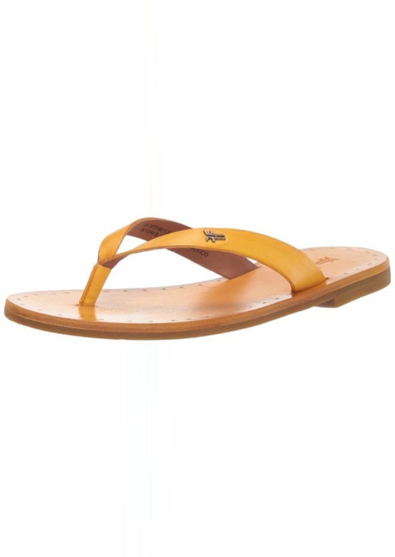 FRYE Women's Azalea Logo FLIP Flop Flat Sandal   M US