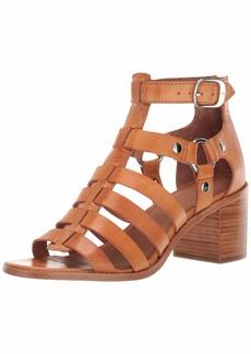 FRYE Women's Bianca Gladiator Flat Sandal tan  M US