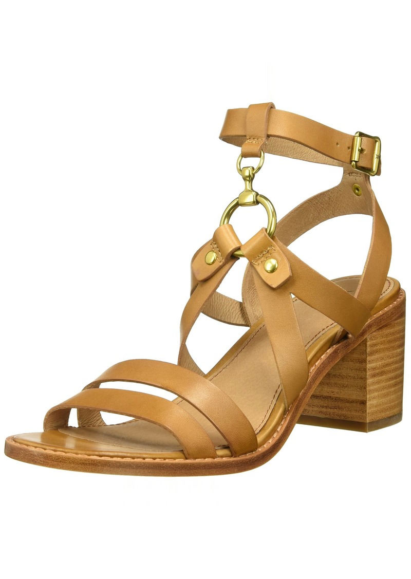 FRYE Women's Bianca Harness Sandal Heeled tan  M US
