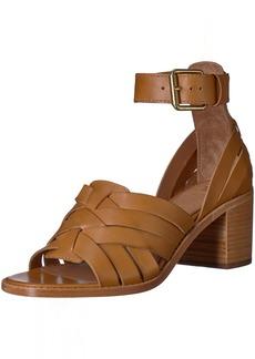 FRYE Women's Bianca Hurache 2 Piece Heeled Sandal tan  M US