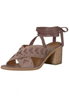 FRYE Women's Bianca Woven Perf Ankle Strap Heeled Sandal   M US