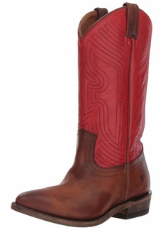 FRYE Women's Billy Stitch Pull On Western Boot red/Multi