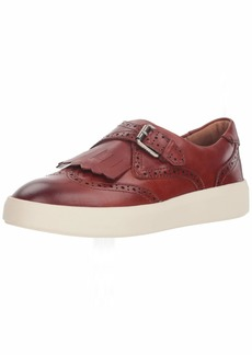 FRYE Women's BREA Kiltie Sneaker red Clay  M US