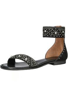 FRYE Women's Carson Deco Zip Flat Sandal   M US
