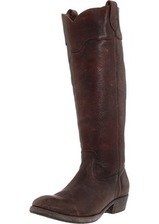 FRYE Women's Carson Lug Riding Boot Dark Brown Stone Antique