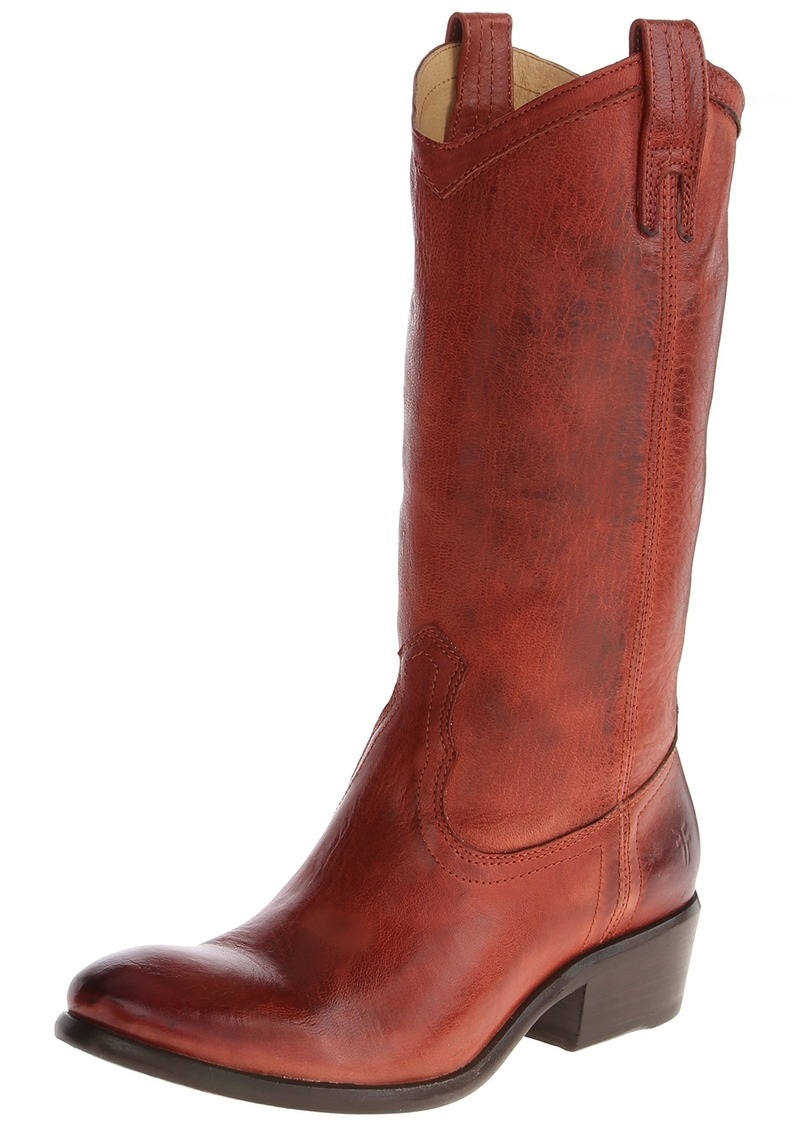FRYE Women's Carson Pull-On Boot Burnt Red Washed Antique Pull-Up