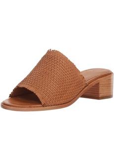 FRYE Women's Cindy Woven Mule Heeled Sandal tan