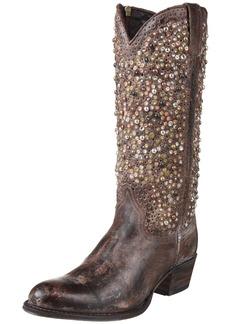 Frye Women's Deborah Studded Tall Western Boot   Medium US