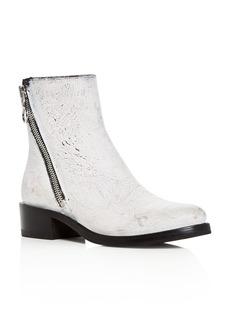 Frye Women's Demi Crackle Paint Leather Low Heel Booties