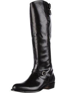 FRYE Women's Dorado Buckle Riding Boot Black Smooth Polished  M US