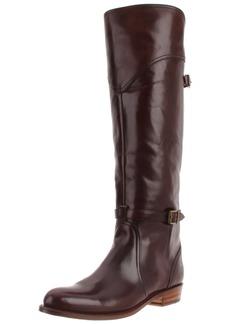 FRYE Women's Dorado Riding Boot Dark Brown Smooth Polished Veg
