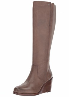 FRYE Women's Emma Wedge Tall Fashion Boot   M US