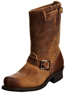 FRYE Women's Engineer 12R Boot  Dark Brown Oiled Leather