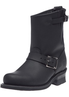 FRYE Women's Engineer 8R Ankle Boot Black Greasy