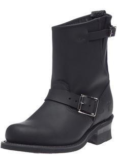 FRYE Women's Engineer 8R Ankle Boot Black Greasy