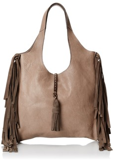 FRYE Women's Farrah Fringe Bag Grey