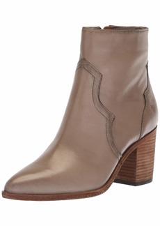 FRYE Women's Flynn Short Inside Zip Ankle Boot grey  M US