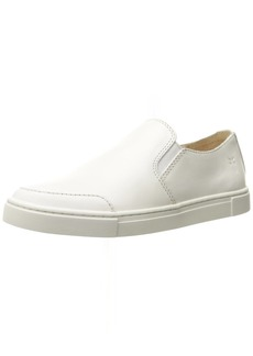 FRYE Women's Gemma Slip Fashion Sneaker White Leather  M US
