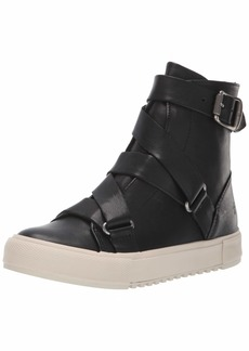FRYE Women's Gia Moto High Sneaker black  M US