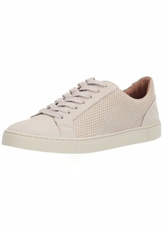 FRYE Women's Ivy Diamond Emboss Low LACE Sneaker Silver  M US