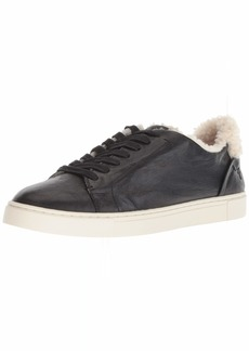 FRYE Women's Ivy Shearling Low Lace Sneaker   M US