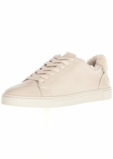 FRYE Women's Ivy Shearling Low Lace Sneaker off white  M US